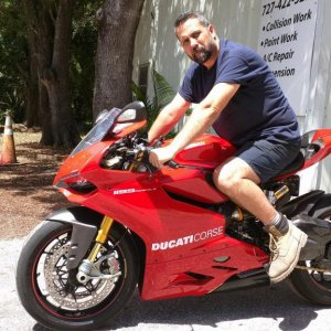 Ducati 1199S with my good friend and mechanic Pete
